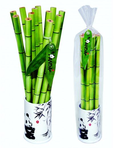 Bamboo Bleistifte 12STK/Becher