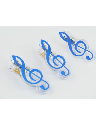 Klammer Violinschlüssel blau