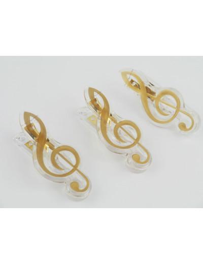 Klammer Violinschlüssel golden