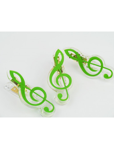 Clip g-clef green