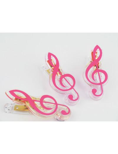 Klammer Violinschlüssel rosa