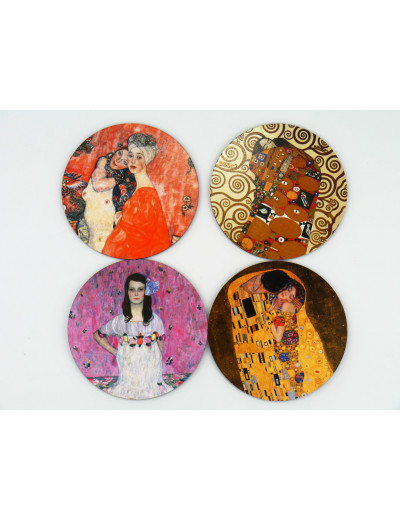Coaster Set Klimt 4 Motifs