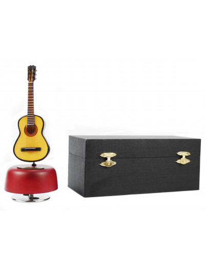 Guitar music box with gift...