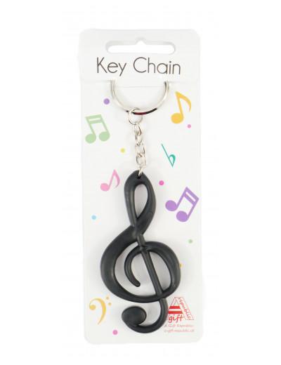 Keyring g-clef black