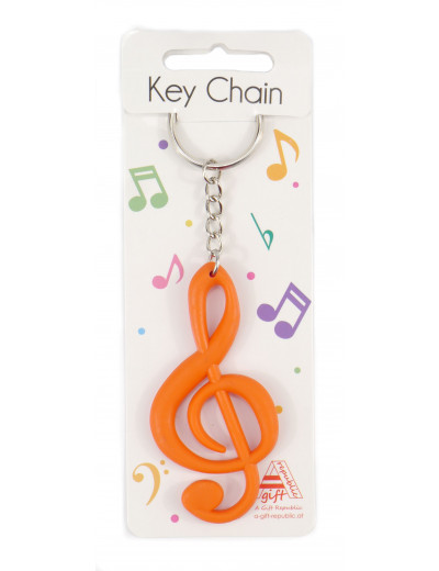 Keyring g-clef red