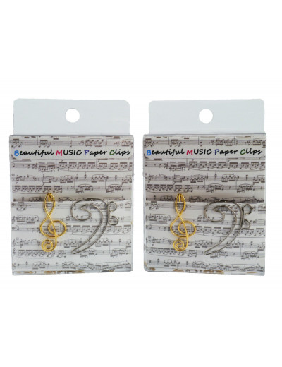 Paper clip g-clef golden &...