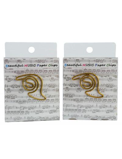 Paper clip horn golden (15...