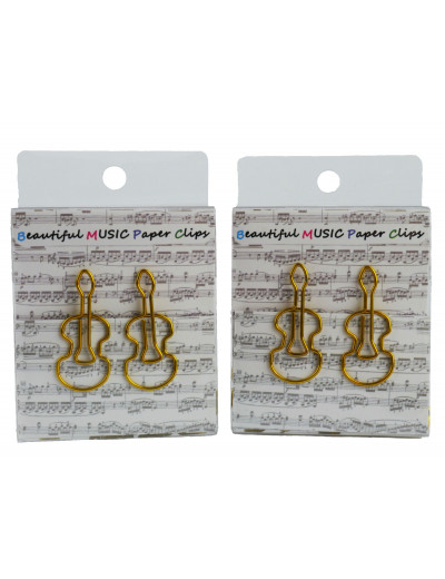Paper clip violin golden...