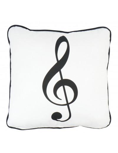 Cushion cover g-clef white