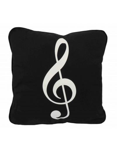 Cushion cover g-clef black