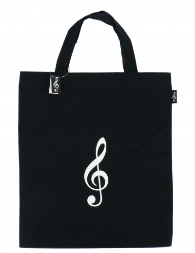 Tote bag g-clef black