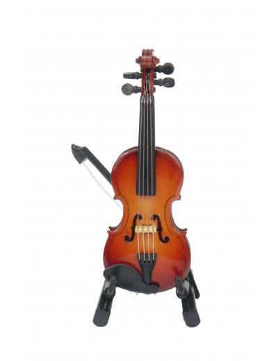 Geige mit Bogen 8 cm mit...