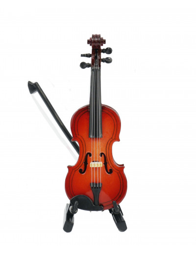 Geige mit Bogen 10 cm mit...