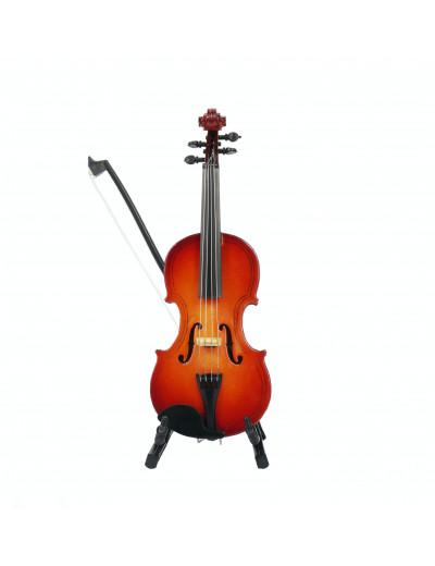 Geige mit Bogen 14 cm mit...