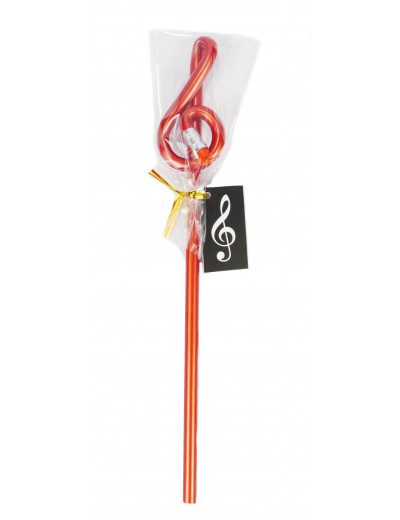 Pencil g-clef red