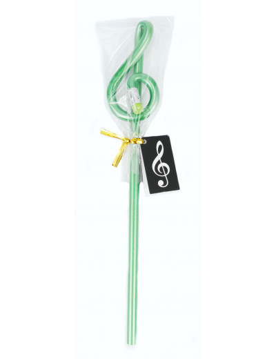 Pencil g-clef green