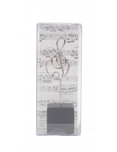 Memo clip g-clef wood