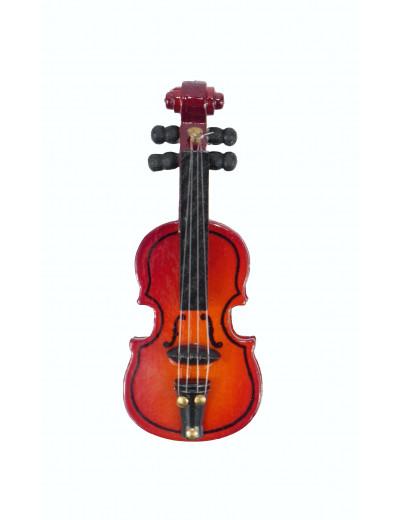 Magnet Geige Holz 6,5cm