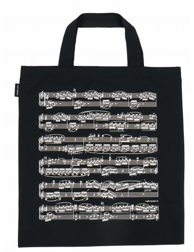 Tote bag notelines black