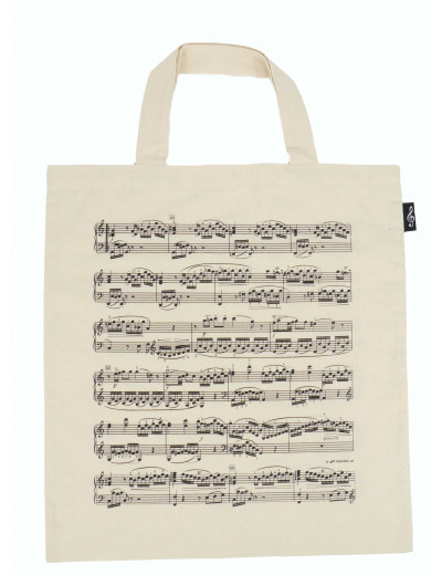 Tote bag notelines natural