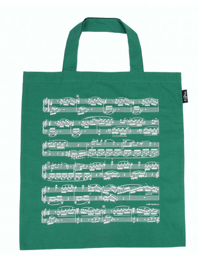 Tote bag notelines green