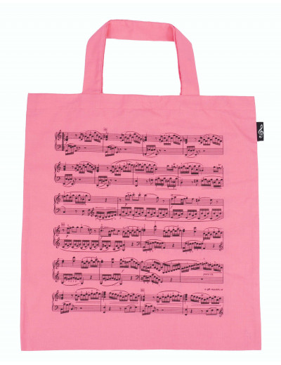 Tote bag notelines pink