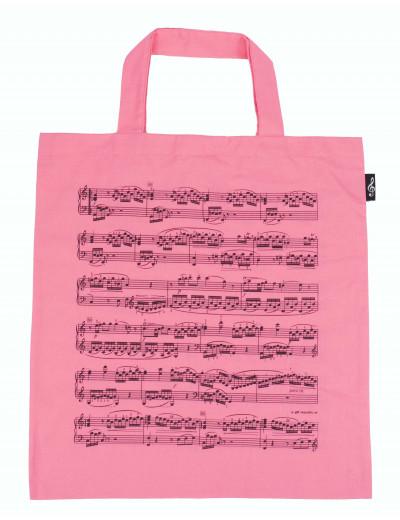 Tragetasche Notenzeilen rosa
