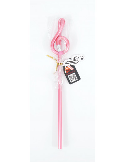 Pencil g-clef pink
