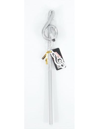 Pencil g-clef silver