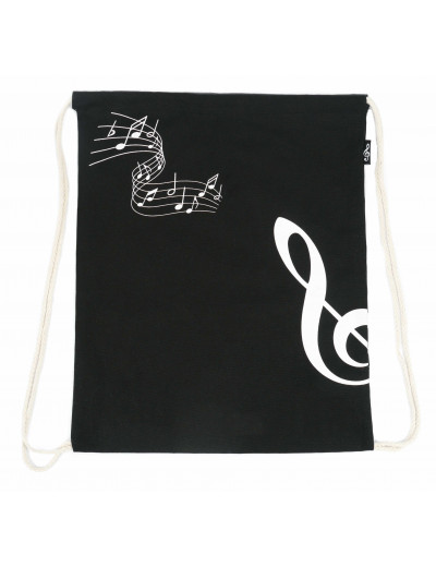 Drawstring bag g-clef black