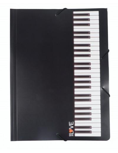 Gummizugmappe Tastatur A4