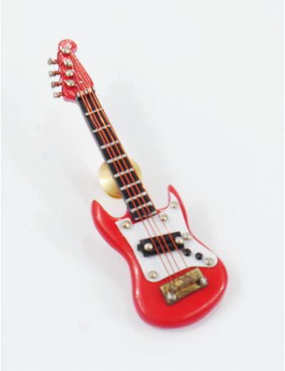 Miniatur Pin E-Gitarre rot...