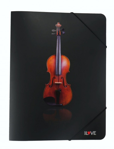 Gummizugmappe Geige A4