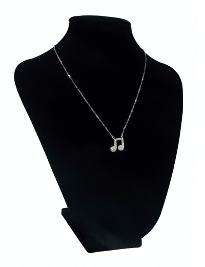 Necklace quaver 1,2 cm / 44 cm white with gift case