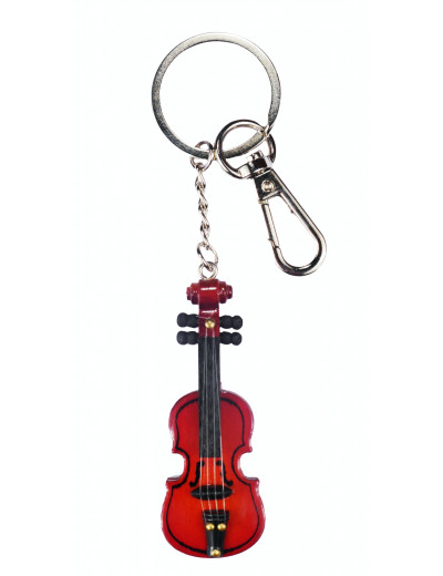 Keyring violin wood 6,5cm