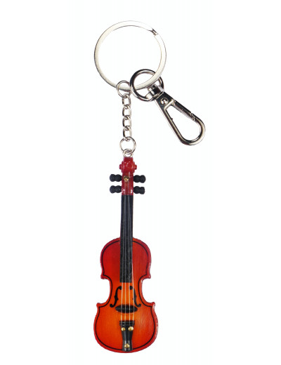Keyring violin wood 8cm