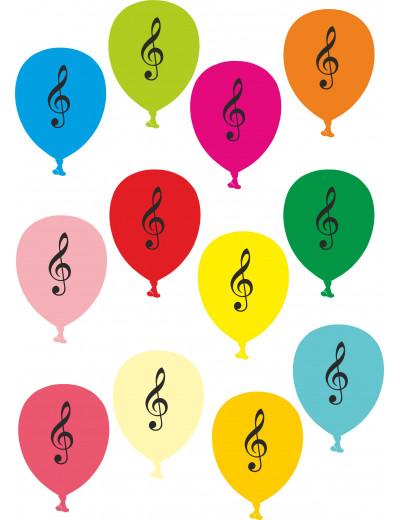 Ballon Violinschlüssel bunt...