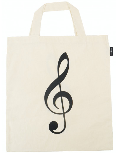 Tote bag g-clef natural