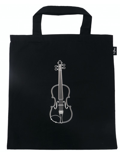 Tote bag violin black