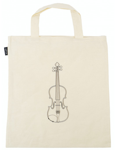Tote bag violin natural