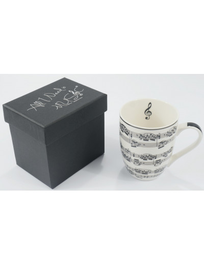 Mug notelines white 300 ML...