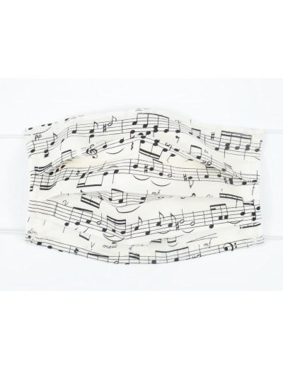 Gesichtsmaske mit Musik...
