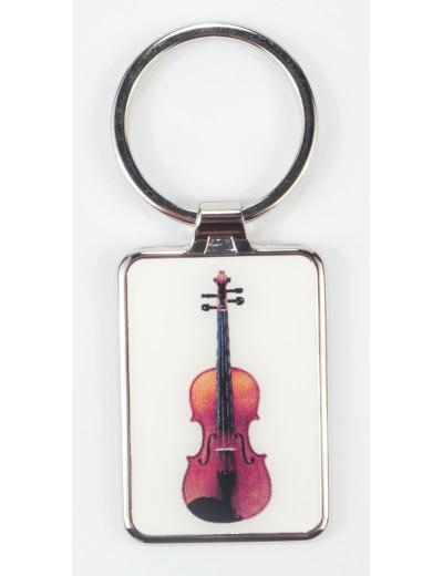 Keyring violin metal