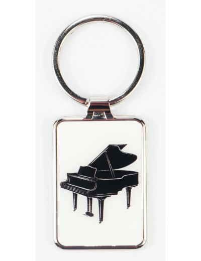 Keyring Grand Piano metal