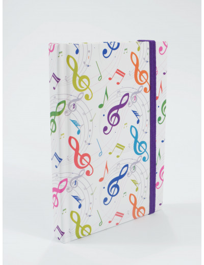 Notebook g-clef colourful...