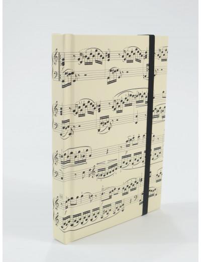 Notebook sheet music creme...