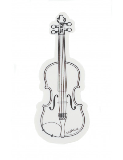 Eraser violin white