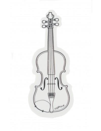 Radierer Geige weiß