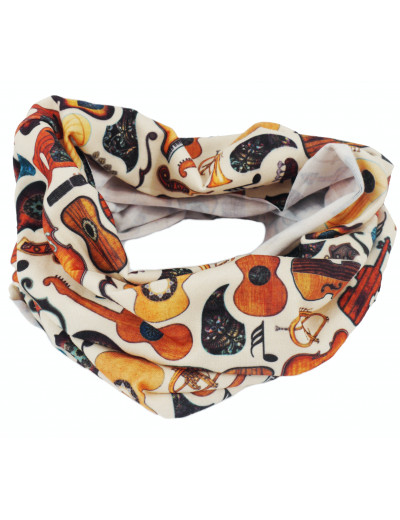 Loop scarf guitar 24*50 cm (Jersey)
