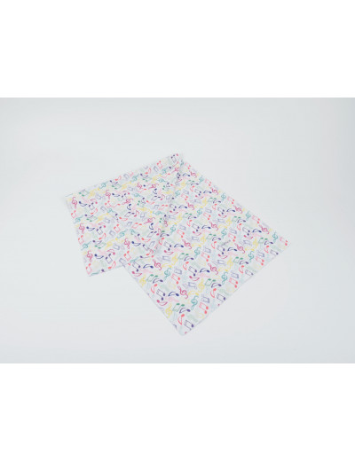 Loop scarf notes colorful/white 25*50 cm